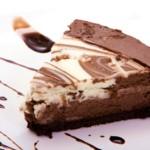Cheesecake freddo al cioccolato e crema pasticcera