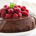 Cheesecake al cioccolato e lamponi